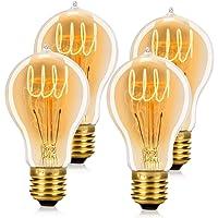 WEDNA Retro Edison Bombilla, 40w E27 Regulable A19