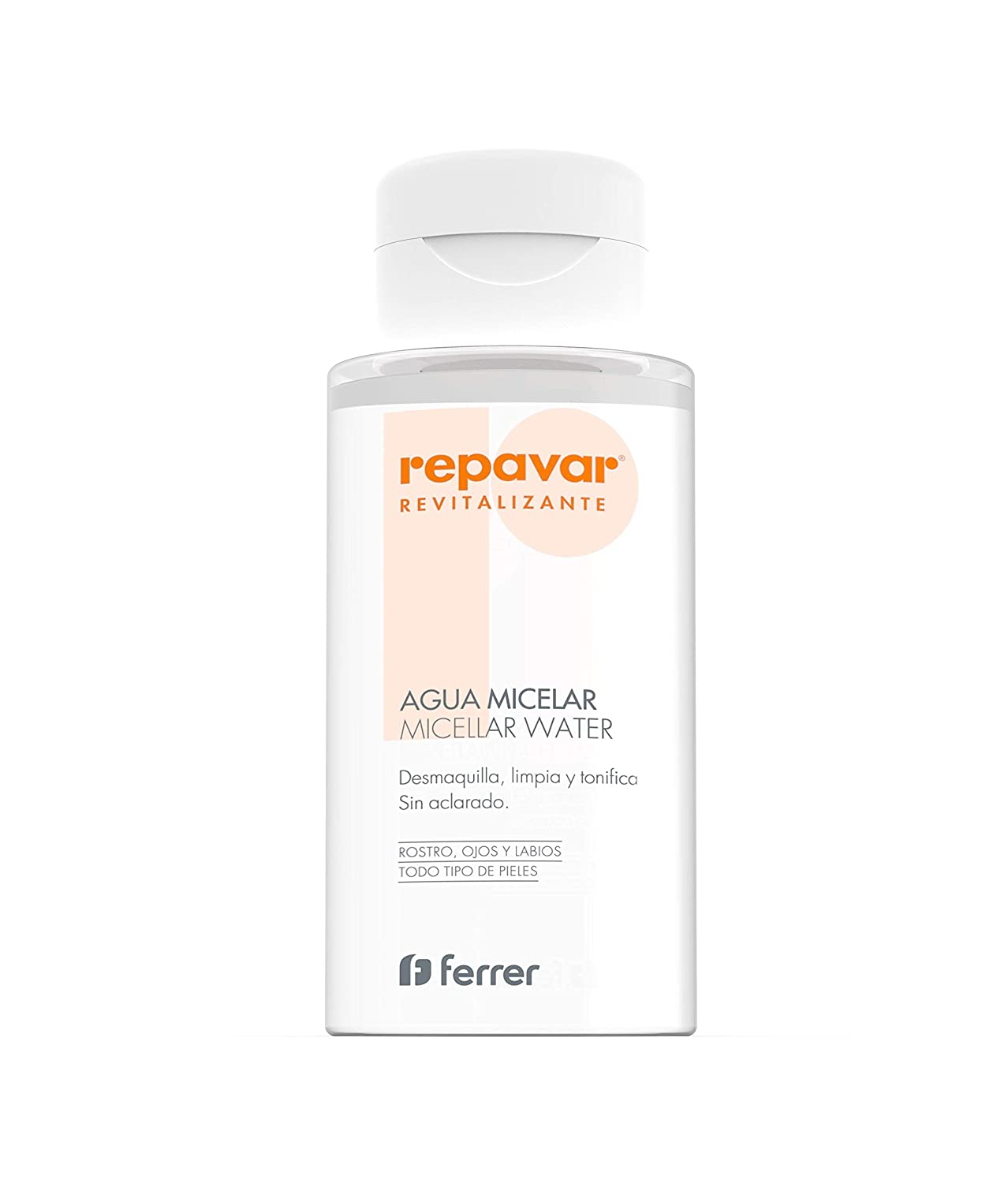 REPAVAR REVITALIZE Micellar Water 300ml - Cleanses, Tones And Removes Impurities, For Face, Eyes and Lips Ferrer 1308384