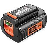 Powilling 40 Volt MAX 2.5Ah Lithium Replacement Battery for Black and Decker 40V Battery LBX2040 LBXR36 LBXR2036 LST540 LCS12