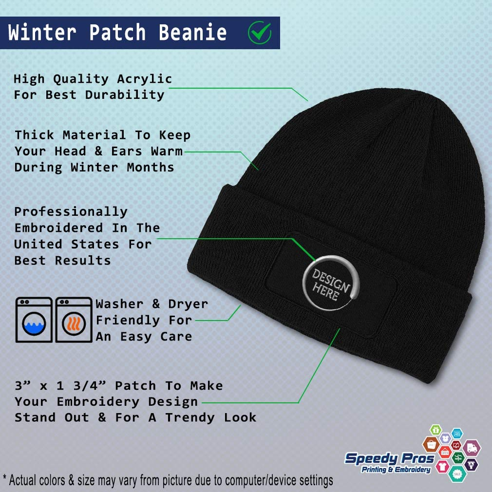 Speedy Pros Patch Beanie for Men /& Women Us Army Retired Embroidery Skull Cap Hats 1 Size