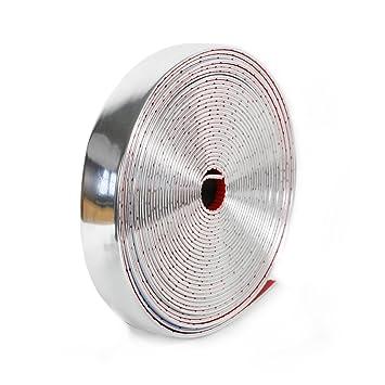 Chrom Zierleiste 30 mm x 5m Neu selbstklebend universal Auto Chromleiste