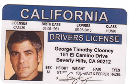 Clooney Signs4fun The Toys And By George Drivers License Amazon Novelty Men Fake com amp; Identification For d Games Fans I Monuments Batman Robin