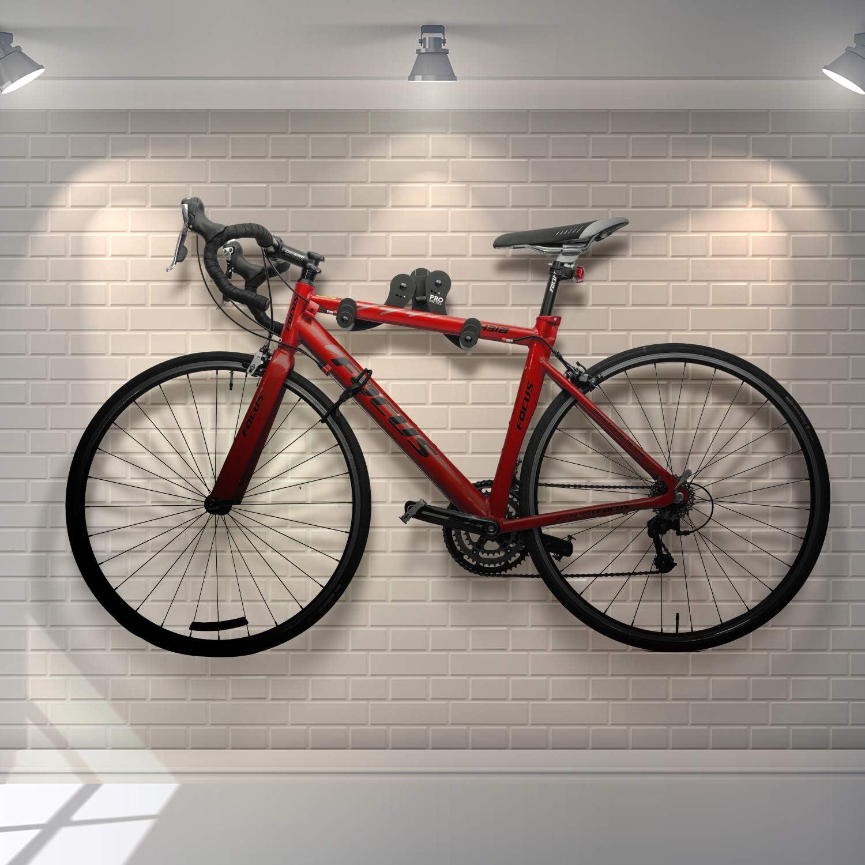 colgador de ciclismo gancho para bicicletas para 1 bicicleta en el garaje o en casa para colgar en tu carretera soporte seguro y seguro Soporte de pared horizontal para bicicleta monta/ña o bicicletas h/íbridas
