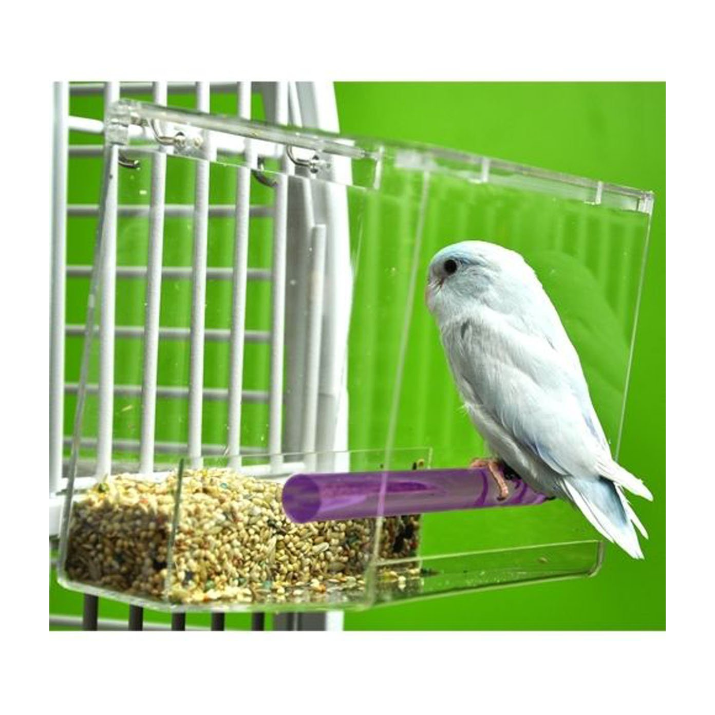 Tweeky Clean tidy Bird Feeder parrot toy toys canary cockatiel finch seed mess by Unknown