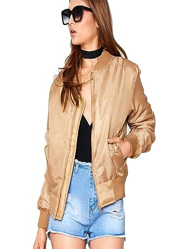 Nuevas señoras para mujer niñas elegante MA1Bomber chaqueta abrigo acolchado tamaño 6–26