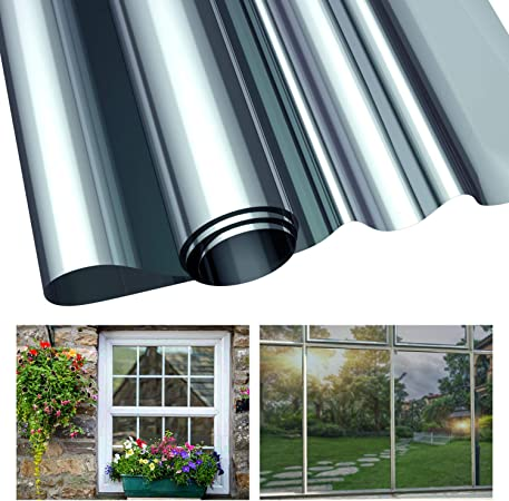 PET Self-sticky Window Film Privacy Heat Control Mirror Film for Home and Office