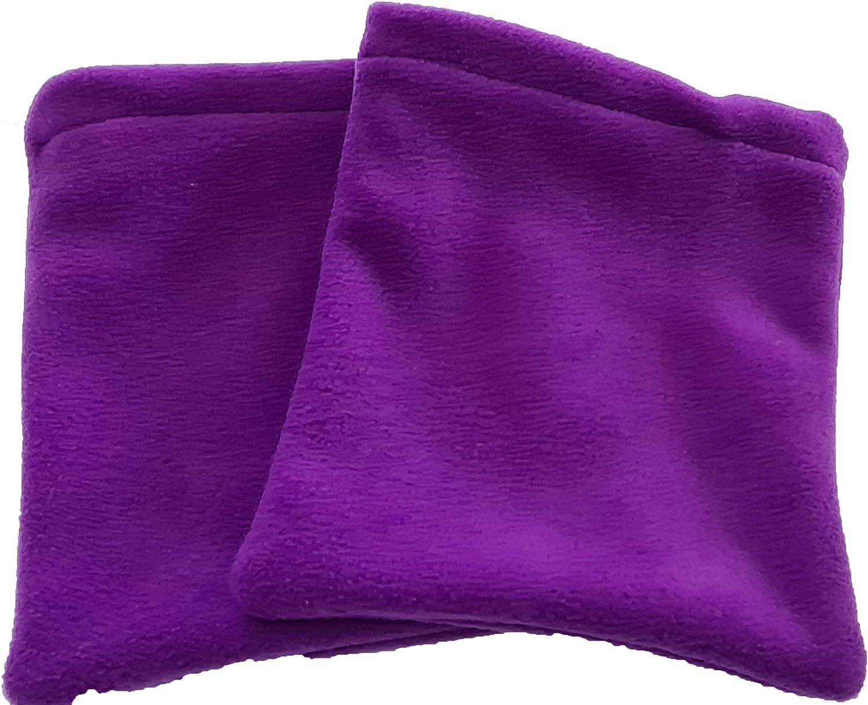 Purple So n Sew Polar Fleece Stirrup Covers