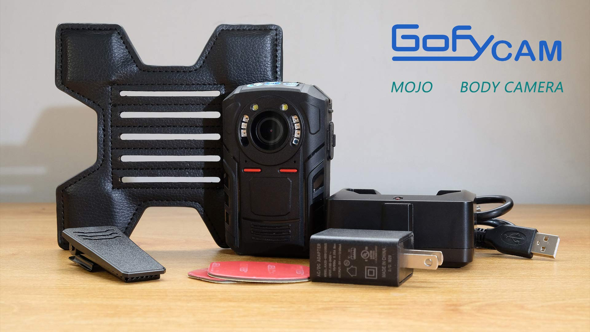 Mojo Police Body Camera with 1440P, H.265,140° Wide Angle Lens,12+ Hour Battery Life at 1080p,Low Light Recording at 0.1 Lux, Pre-Buffering up to 30 Sec,Compact and Lightweight Body Worn Camera-32GB by GoflyCam (Image #5)