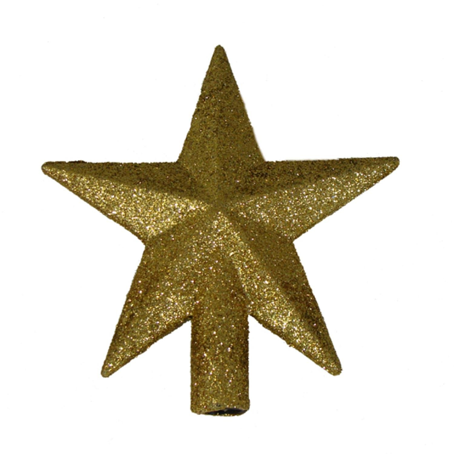 kurt adler 4 petite treasures gold glittered mini star christmas tree topper unlit