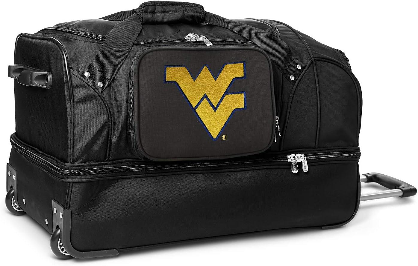 NCAA Free shipping West Miami Mall Virginia Mountaineers Duffel Bag Rolling Drop-Bottom