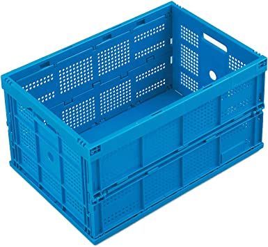 universal Transportkiste 5 x Klappbox grau Aufbewahrungsbox Faltbox Kunststoff