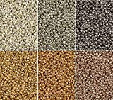 ''Duracoat Galvanized Metallics'' 6 Color Mix Miyuki Round Rocaille Seed Beads Size 11/0, Each in 2'', 8.5 Gram Tube