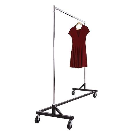Amazon.com: Commercial Garment Rack Z Rack - Rolling Clothes ...