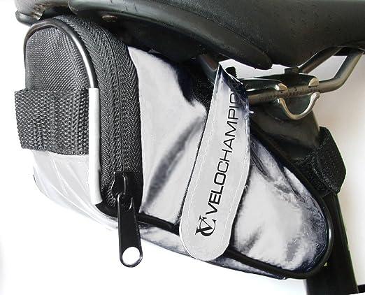 VeloChampion Slick Pack de asiento de bici - Bolsa para sillin de bici (Rojo): Amazon.es: Deportes y aire libre