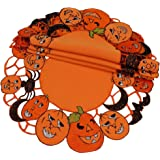 Xia Home Fashions 4-Pack Happy Jack-O-Lanterns Halloween Placemats 14 by 20-Inch Intrepid International Trading XD11035