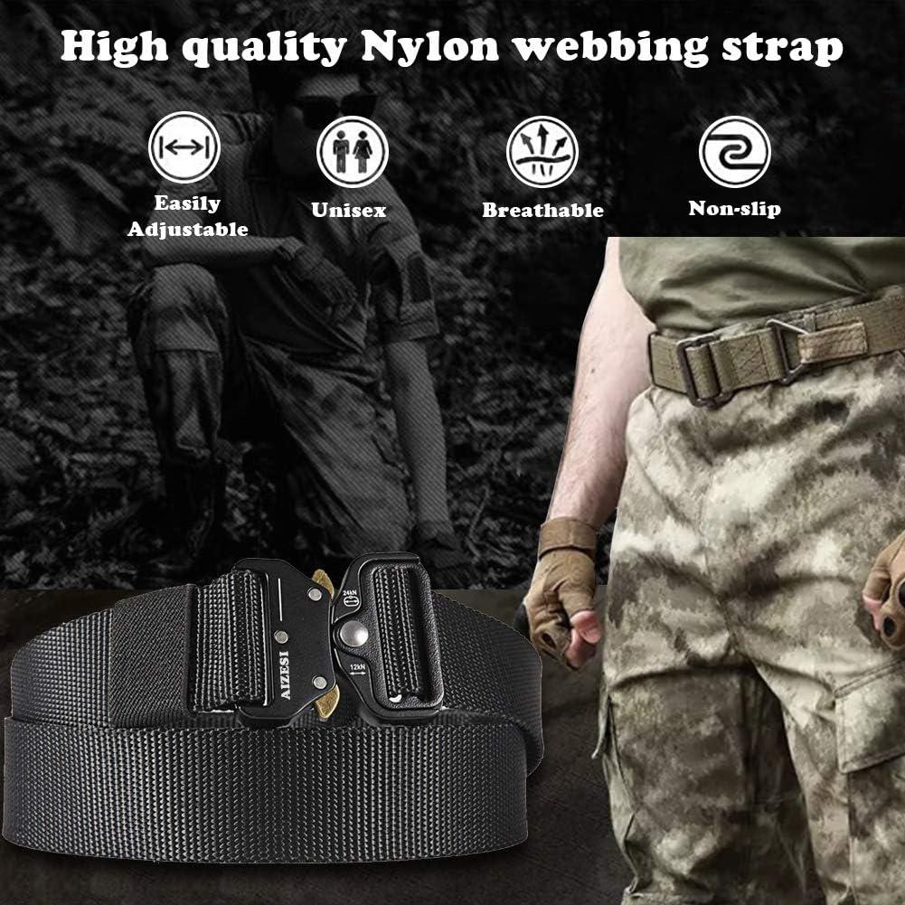 Outdoor Camping Training Military Belt Buckle Carabiner Hunting Lock Hiking Hoop