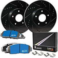 Auto Shack BRAKEPKG211 Set of 4 Drilled and Slotted Rotors with Metallic Pads