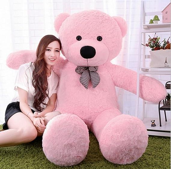 Toyhub Huggable Teddy Bear With Neck Bow (122 Cm Pink) - 4 Feet Animals & Figures at amazon
