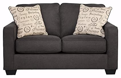 Ashley Furniture Signature Design   Alenya Sofa Loveseat With 2 Throw  Pillows   Classic Upholstery