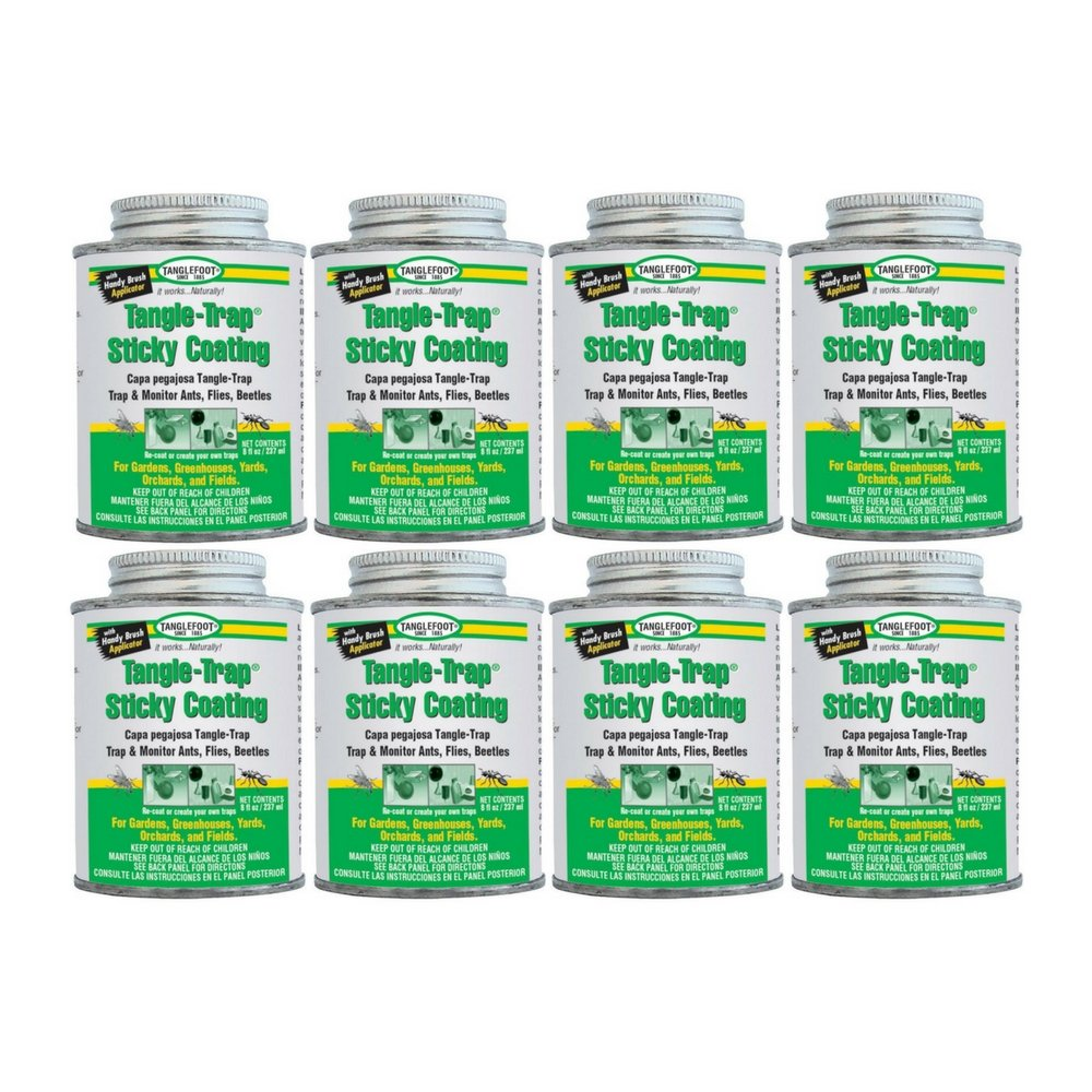by Ortho Tanglefoot Tangle-Trap Sticky Coating Can with Brush Cap 8 OZ (8 pack)