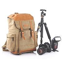 TARION M-02 Sac à dos grande capacité,anti choc et résistant à l'eau pour appareil photo ;objectif ;flash etc .Kaki