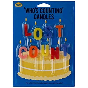 Amazon Lost Count Birthday Candles Set Of 9