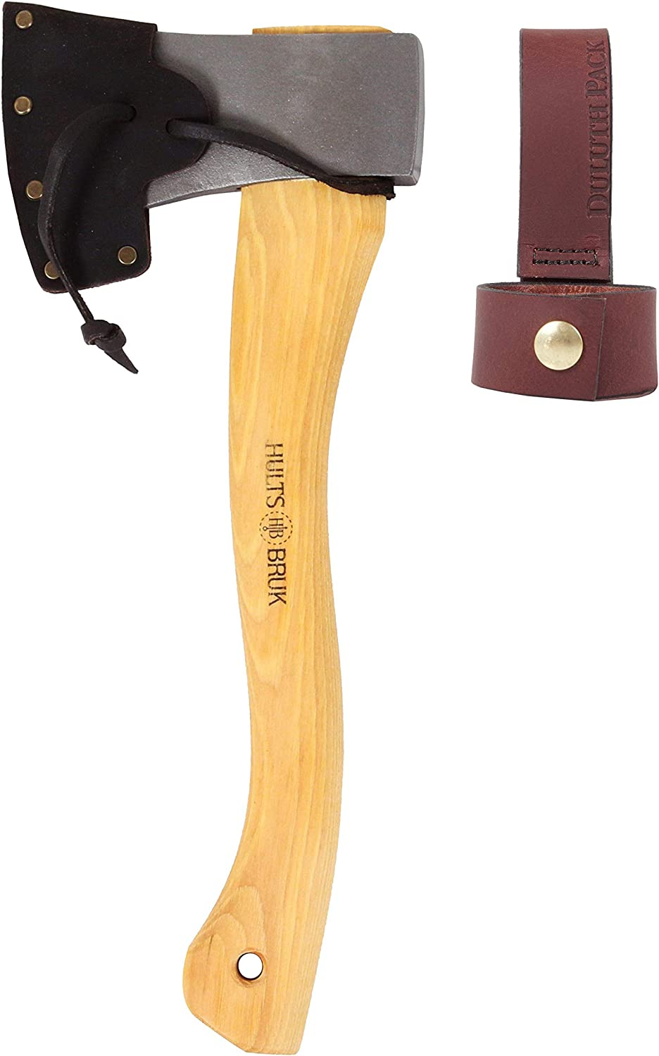 Hults Bruk Tarnaby 15 Inch Hatchet with Sheath and Duluth Pack Axe Holder Bundle