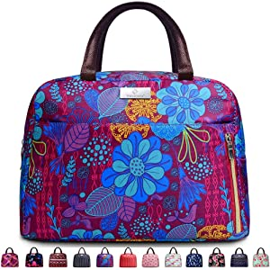 Lunch Bags For Women,Insulated Lunch Box Tote Bag Lunch Organizer Lunch Holder For Men/Beach/Party/Boating/Office/Fishing/Picnic (Purple)