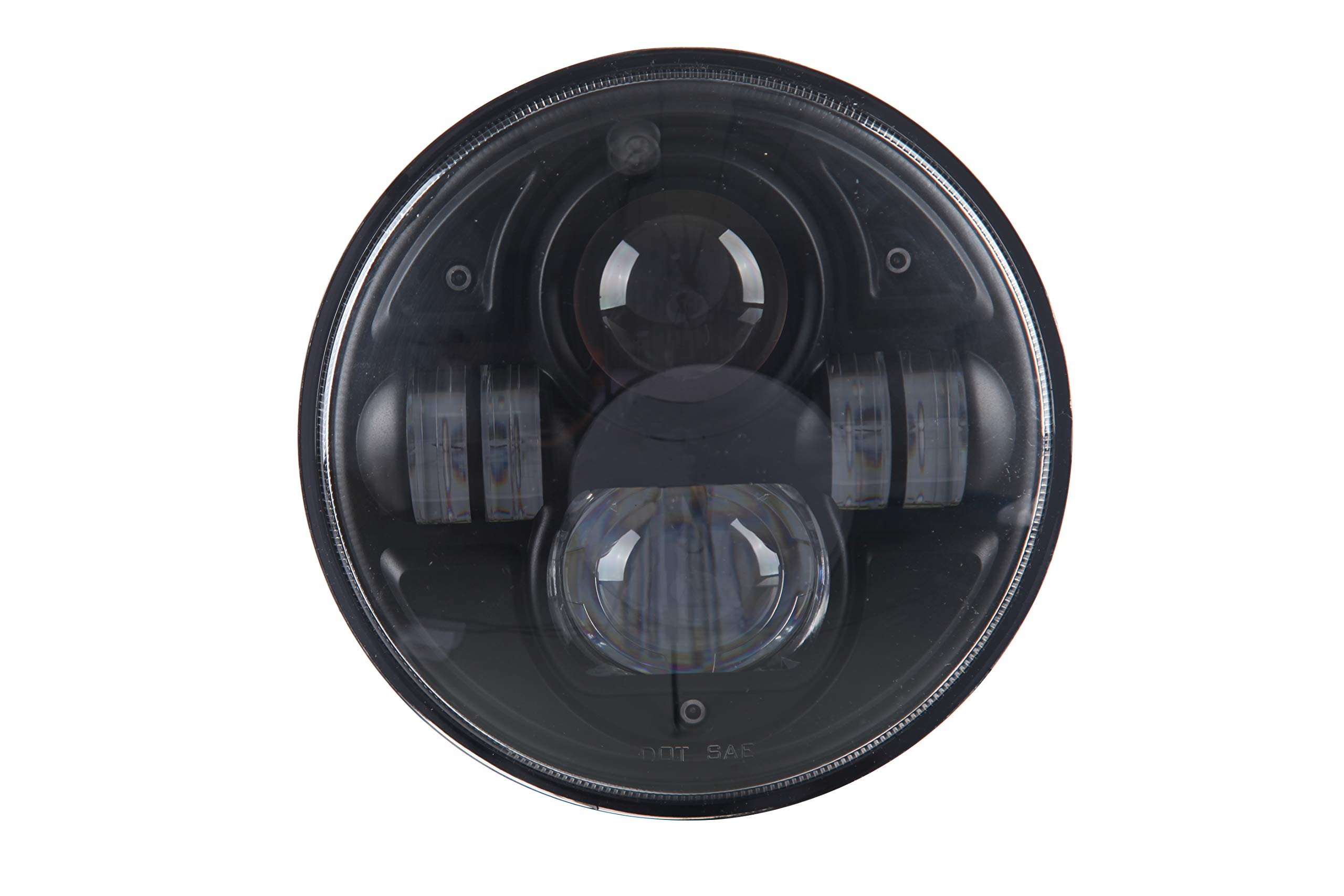DOT Approved 70W 7 Inch LED Headlight Round (Chrome)