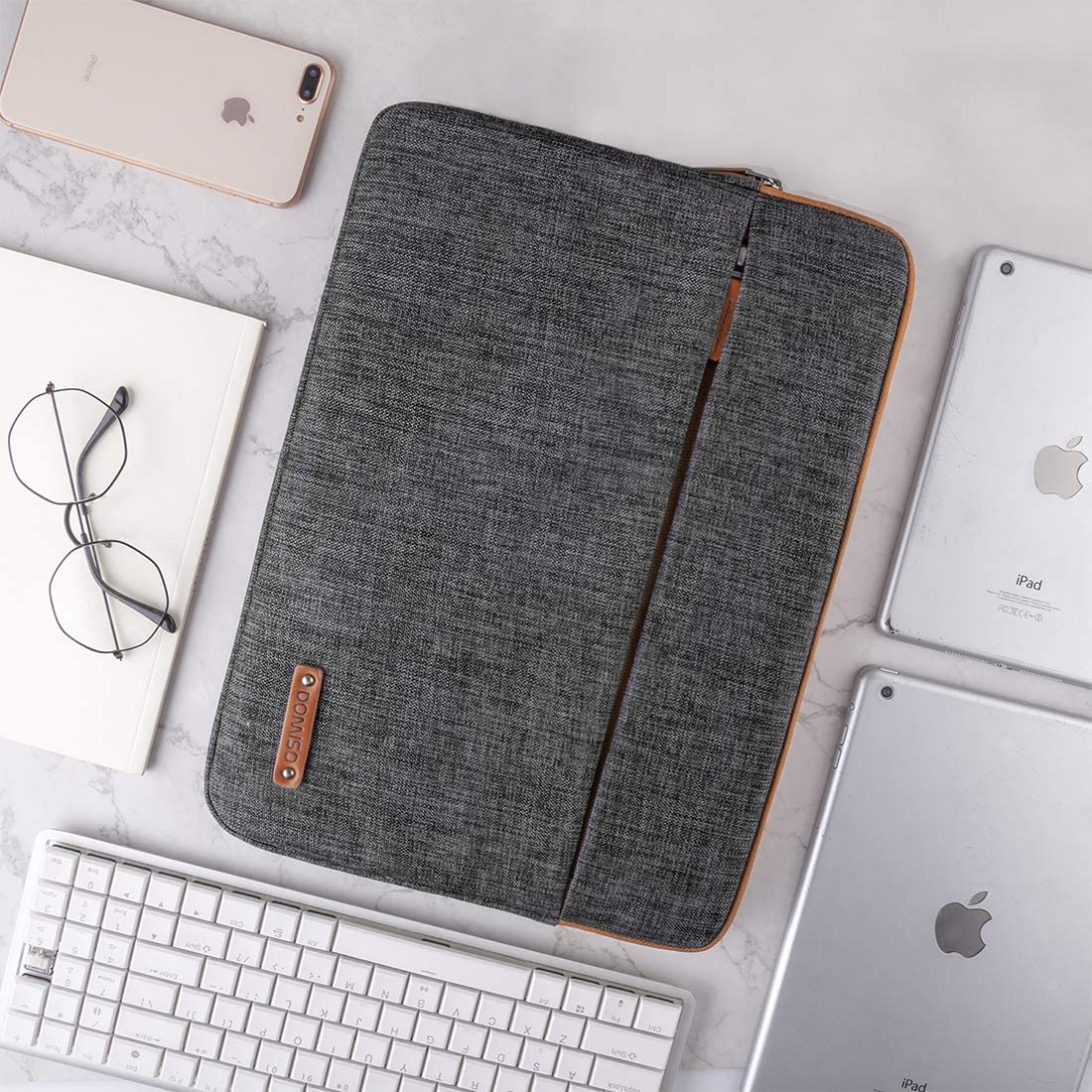 iPad Pro 10.5 Surface Go 2018 iPad Air 3 10.5 iPad 1//2//3//4//5//6,Lenovo Yoga Book DOMISO 10.1 Inch Tablet Sleeve Case Water Resistant Protective Cover for 9.7 10.5 11 iPad Pro Dark Grey