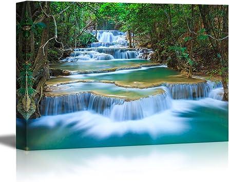 Godafoss beautiful Icelandic waterfall Canvas Art Cheap Wall Print Large