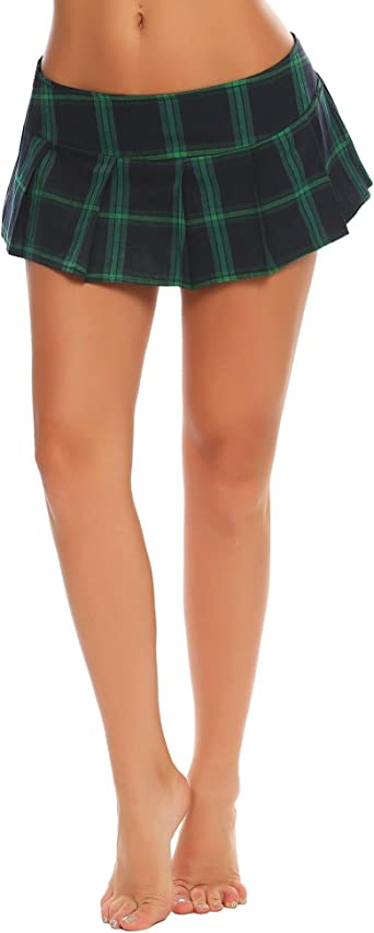 Avidlove - Mini falda de cuadros para mujer (poliéster, sexy ...