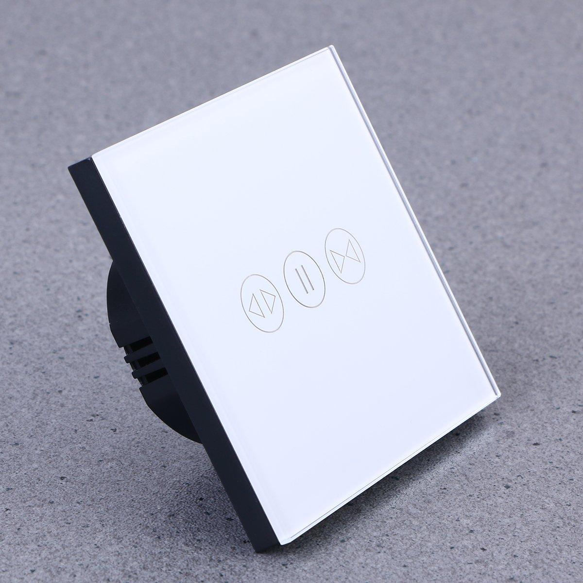 WINOMO Smart WIFI Interrupteur tactile t/él/écommande sans fil Rideau de fen/être commutateur contr/ôleur Interrupteur Volet roulant Blanc