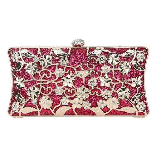0a6c848c8 Fawziya Floral Evening Bag Small Glitter Clutch Purses for Women Party  Clutches-Fuchsia: Amazon.ca: Shoes & Handbags