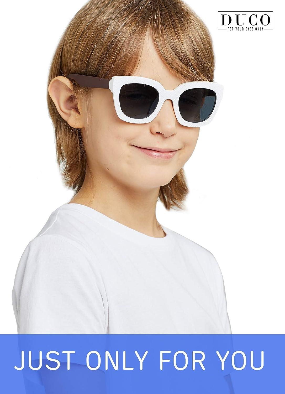 Duco Lunettes de Soleil Polaris/ées de Haute Hualit/é pour Enfants de 6 /à 12 ans