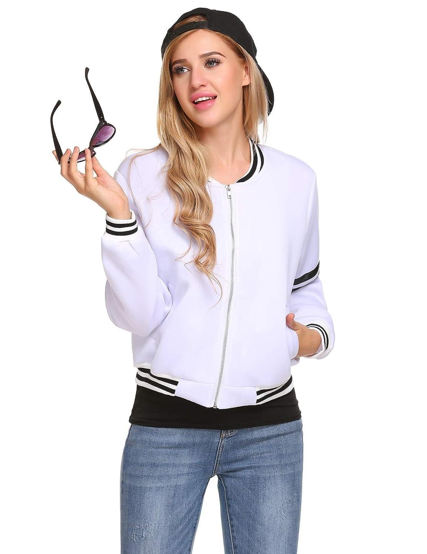 ELESOL Womens Casual Zip Hoodie Tunic Sweatshirt Loose Ruffle Swing Coat Jacket