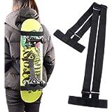 TOBWOLF Universal Skateboard Shoulders Carry Strap, Adjustable Longboard Shoulder Carrier Backpack Belts, Fit for All…