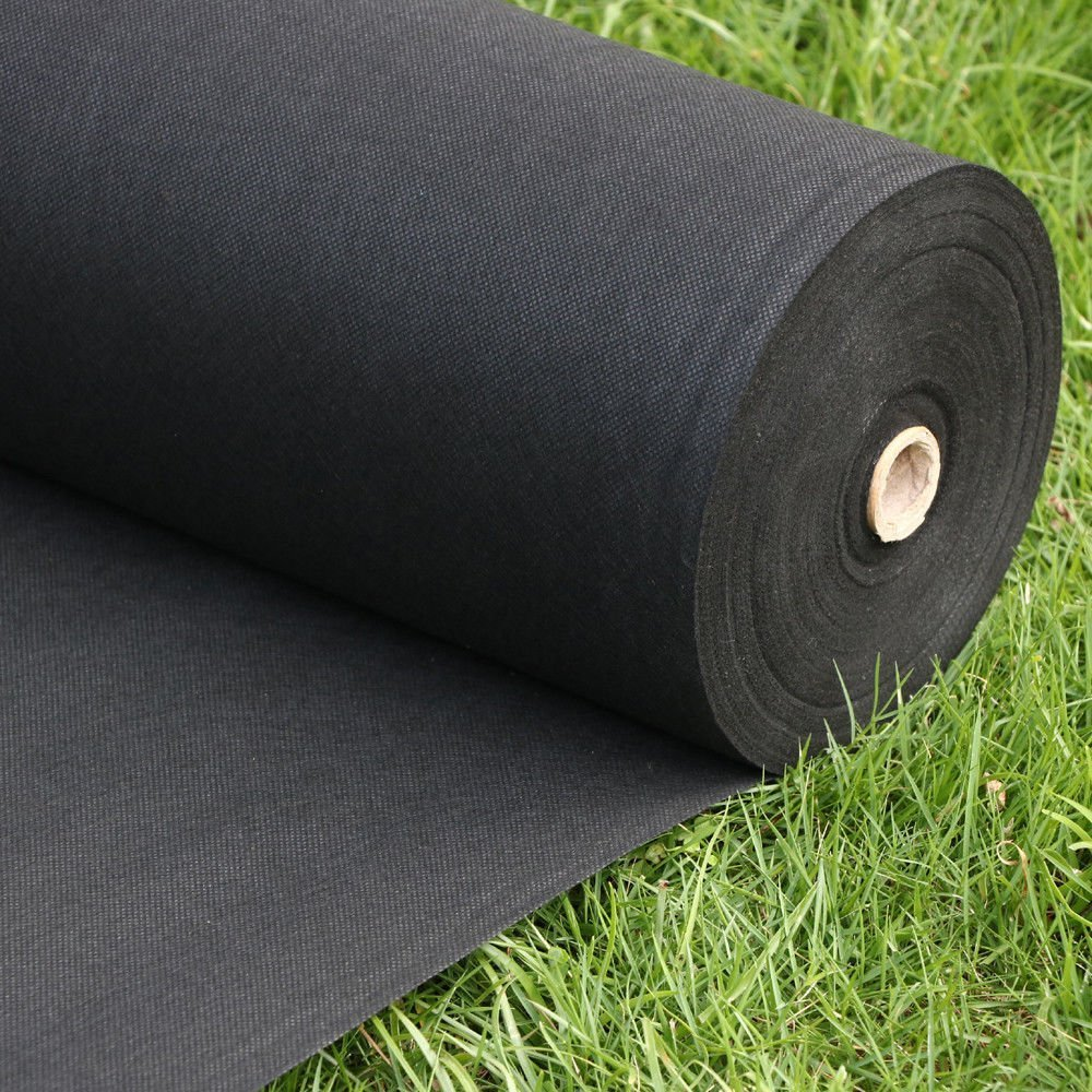 Pro 5 Ounce Weed Barrier - Weed Control Landscape Fabric - Woven Geotextile Fabric - Erosion Control Mulch Mat - Garden Ground Cover Fabric - 6Ft X 250Ft Black by UNI-SOURCE-TEXTILE