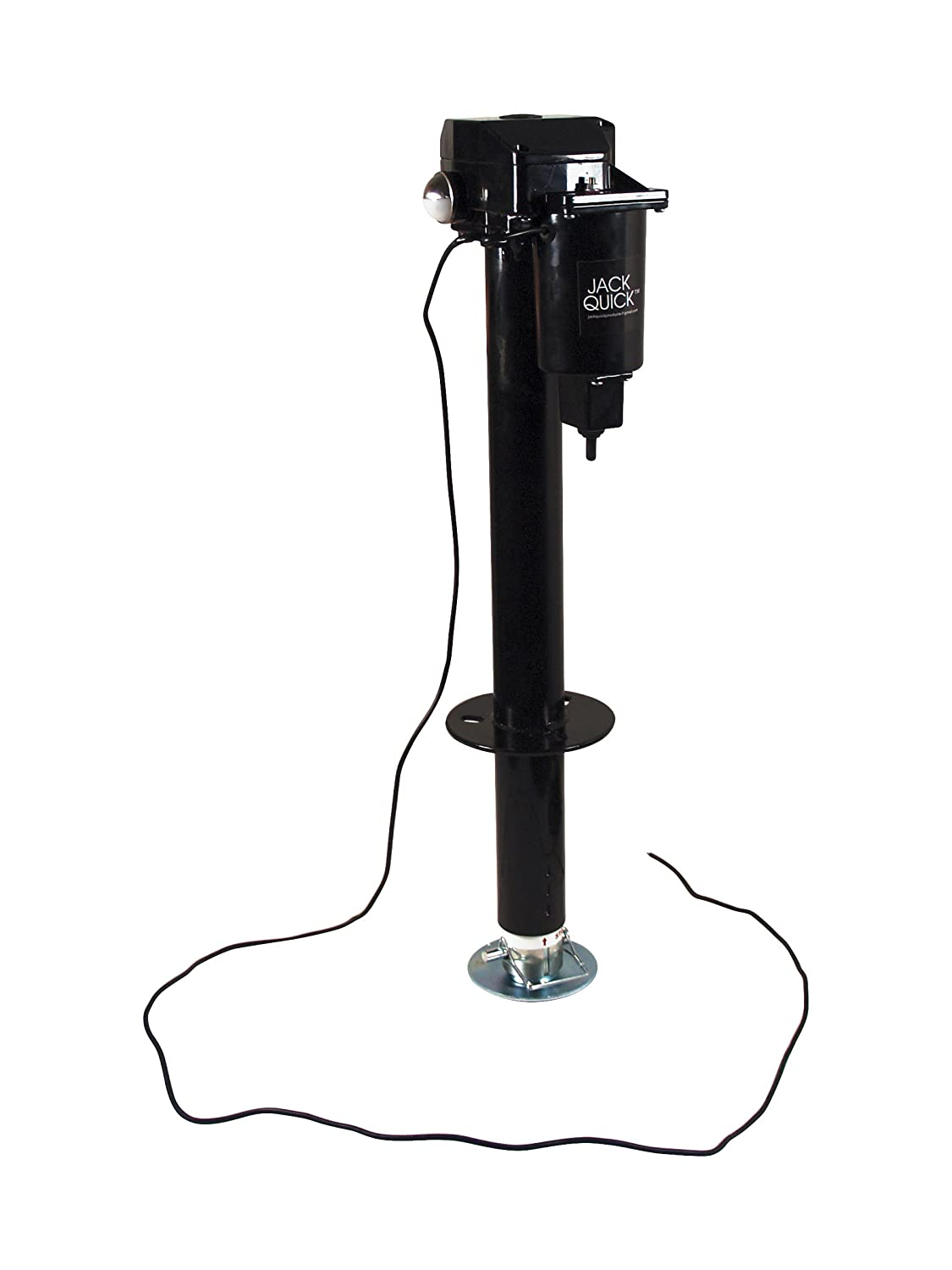 Jack Quick 3000 JQ-3000 12V Electric Tongue Jack with Dual Lights, 3250 lb. Capacity