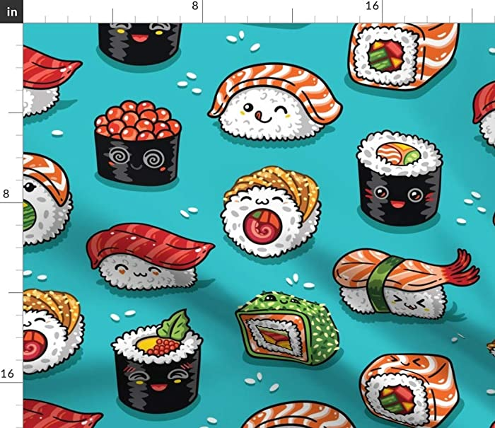 The Best Kawaii Food Fabric
