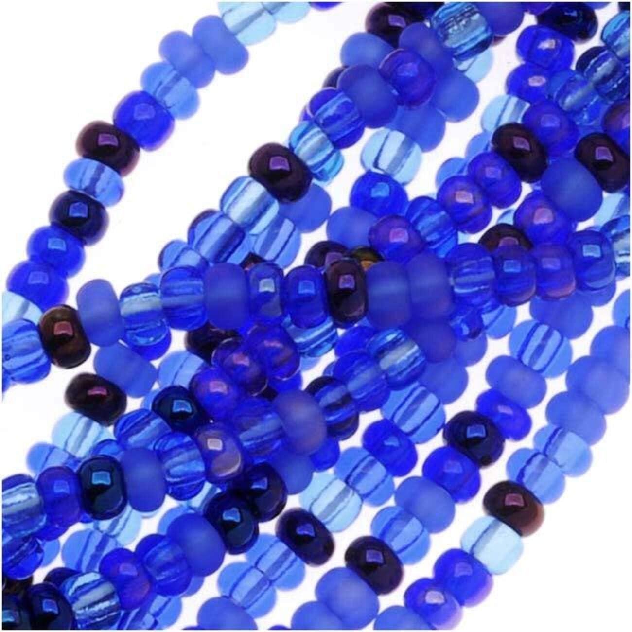 1 Ounce Jablonex Czech Glass Seed Beads Size 6//0 Aqua Matte AB, 6//0