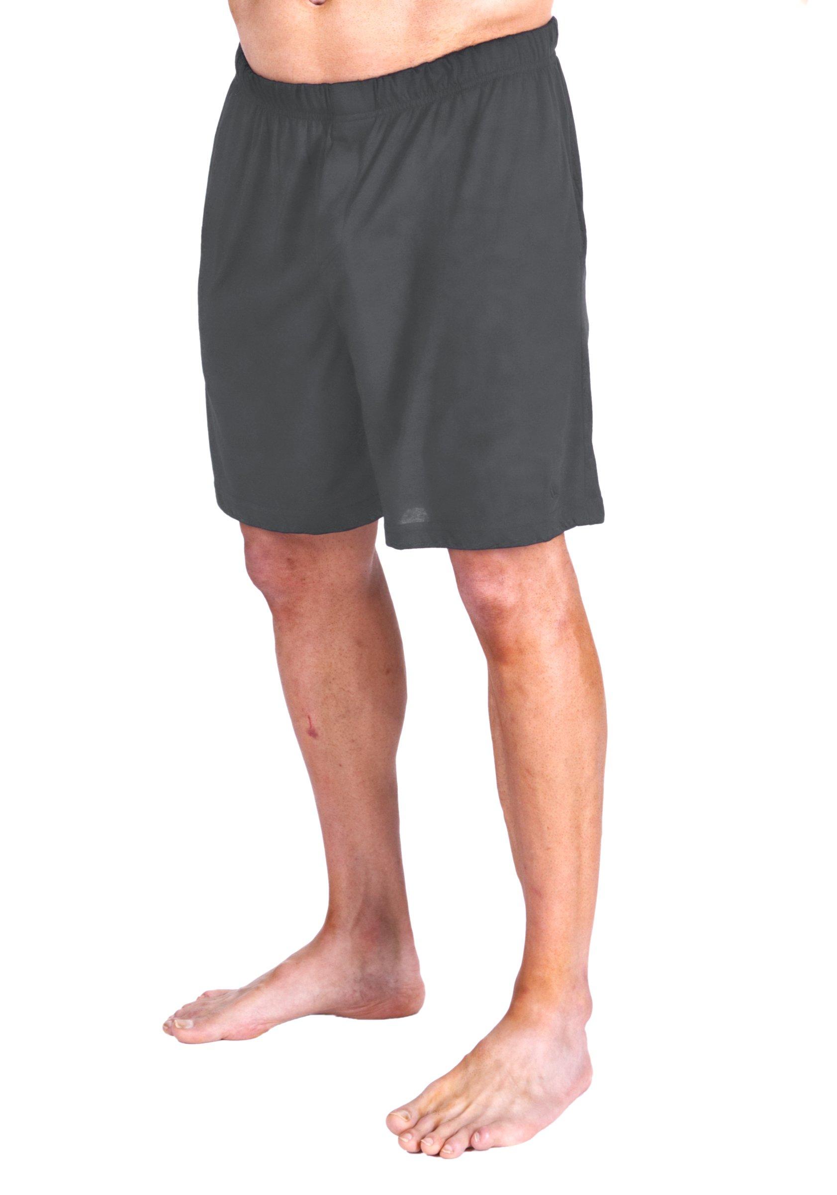 Cool-jams Men's Wicking Sleep Boxer Short (Large, Steel)