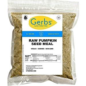 GERBS Ground Pumpkin Seed Meal, 64 ounce Bag, Top 14 Food Allergy Free, Non GMO, Vegan, Keto, Paleo Friendly