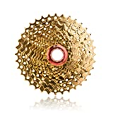 ZTTO Bicycle Parts Gold Golden 10 Speed Freewheel Cassette 11-36T