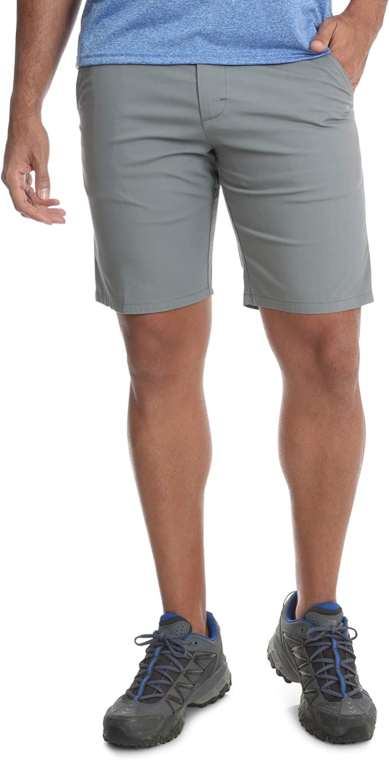 Wrangler Drizzle Outdoor Performance Straight Fit at Knee Flex Flat Front Shorts