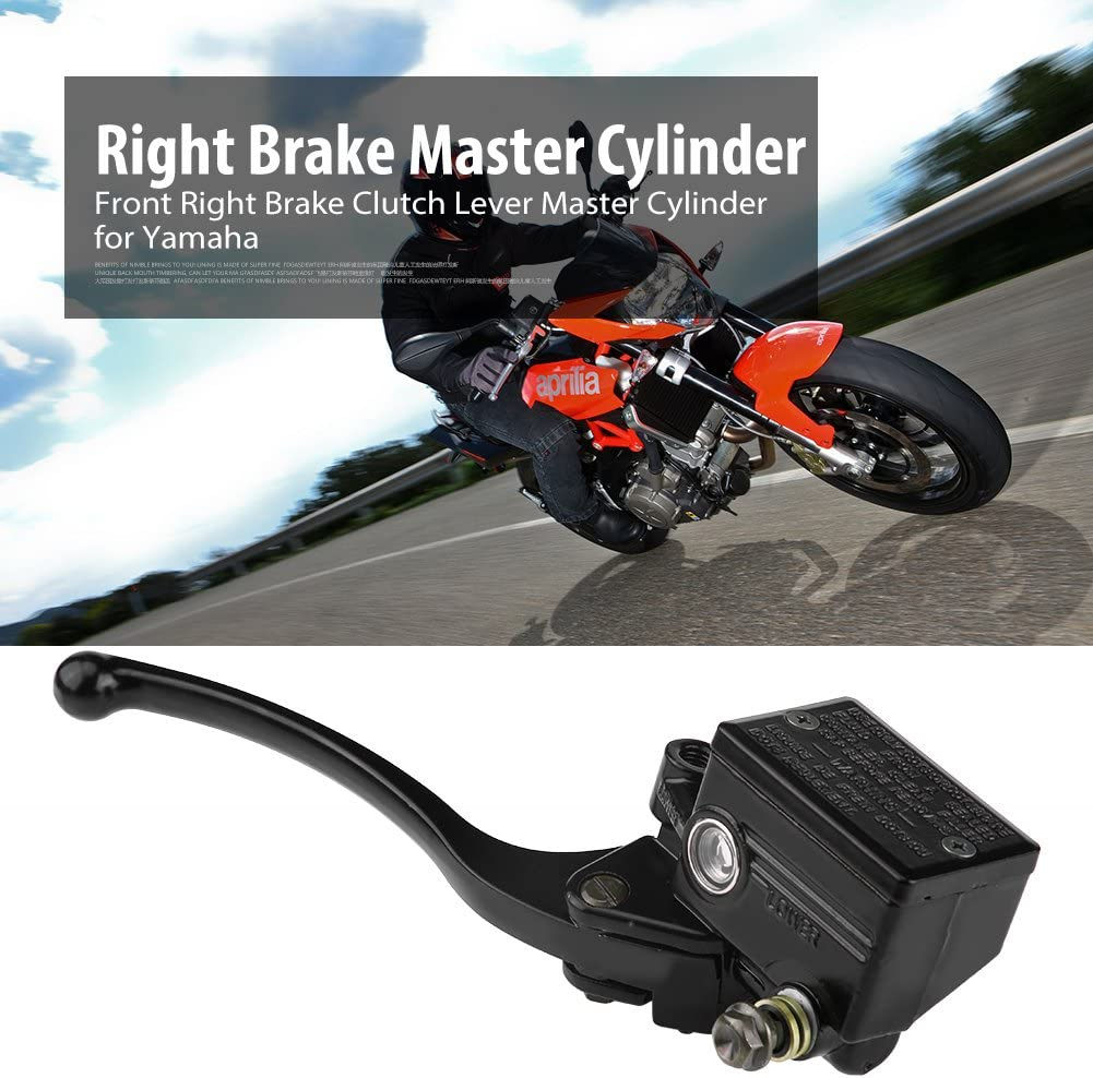 Black Akozon Brake Master Cylinder 7//8 22mm Motorcycle Front Right Brake Clutch Lever Cylinder for Yamaha YFZ450 YFM