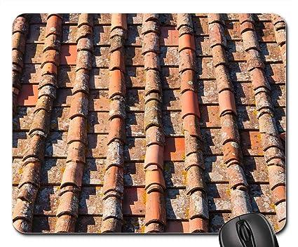 Amazon com : Mouse Pads - Roof Tile House Desktop Fabric Old