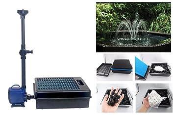 takestop Filtro Interno wp-350fp efecto cascada para fuente estanque acuario acuario agua dulce y salada peces 40 W 3000 L/H max 3 metros: Amazon.es: ...