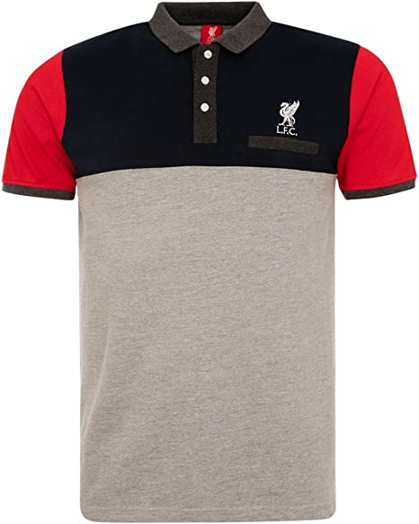 FC Liverpool Colour bloque Pocket Polo Camiseta, gris, negro y ...