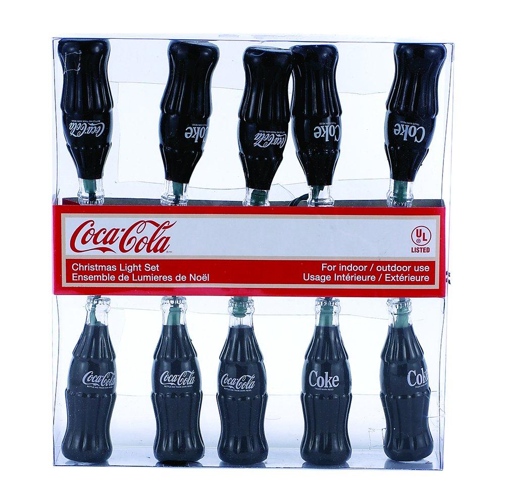 10 Light Plastic Coke COCA-COLA Bottle LIGHT SET 12/' Long NEW CC5801 Kurt Adler